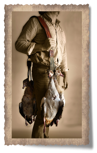 The Barberton Goose Carry Strap with Bird Carriers
