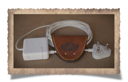The Durban Cable Tie - Large, charger, leather product, leather luxury, handcrafted