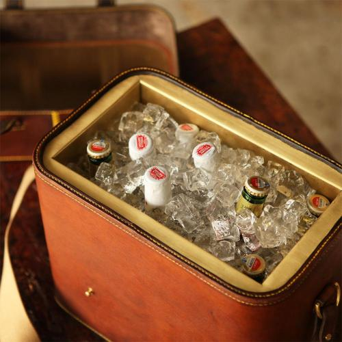 beers, ice, brass, leather, handmade product, south africa