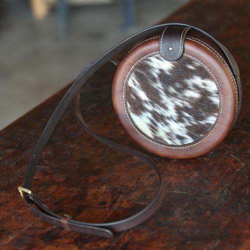 handbag, leather, nguni, small, els