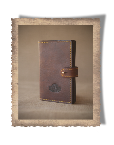 fly wallet, leather